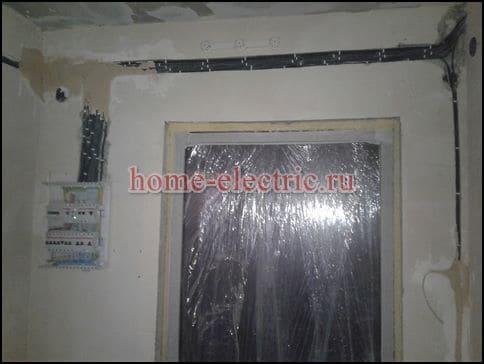 Замена электропроводки в квартире 6 кв м